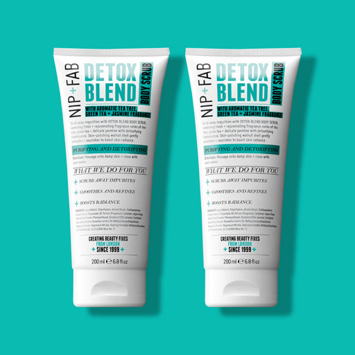 NIP+FAB DETOX BLEND BODY SCRUB DUO 200ML X 2