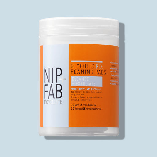 Nip + Fab Australia newly launched Foaming Pads 30 pads cleanse and exfoliate
