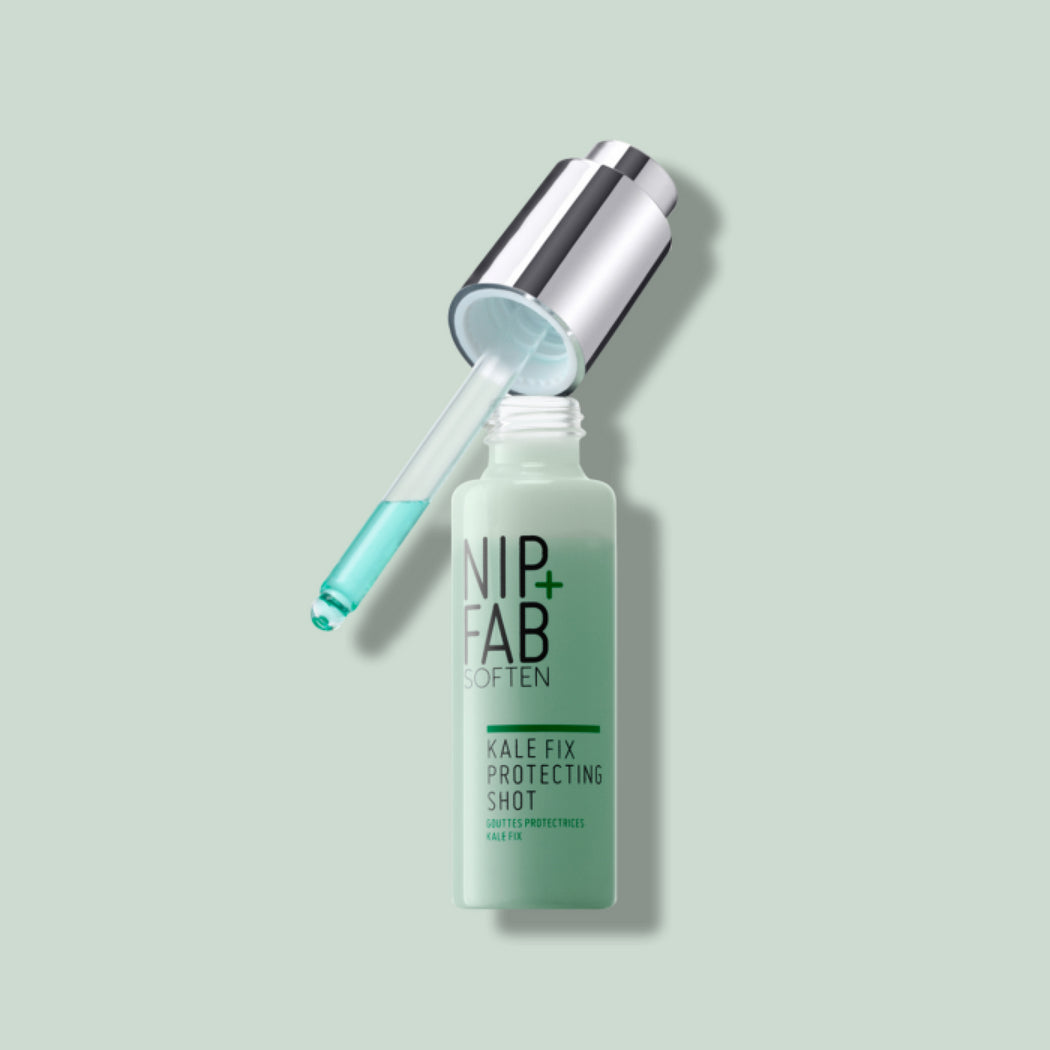 NIP+FAB KALE FIX PROTECTING SHOT HYDRATING PROTECTIVE CONCENTRATED SERUM OPEN