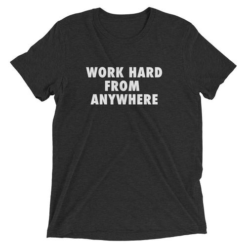 WORK HARD Men's Short Sleeve Shirt Charcoal
