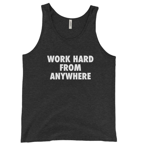 WORK HARD Men's Tank Top Dark Grey