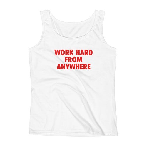 WORK HARD Women's Tank Top White