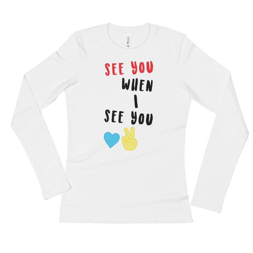 SEE YOU Women's Long Sleeve Shirt White