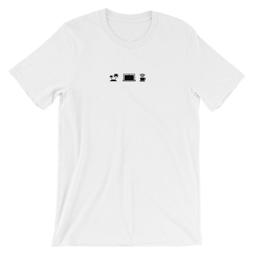 WORK DAY Men's Short Sleeve White