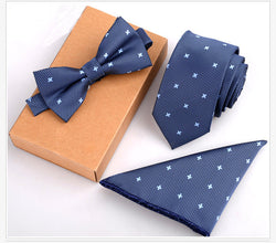 BTN the 3PCS deal - Slim Tie - Bow Tie and Handkerchief