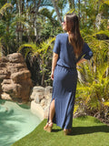Renee Lycra Knit Maxi - Navy