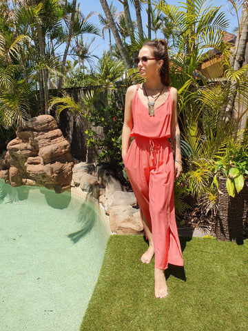 Ellie Pantsuit (new) - Coral