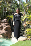 Renee Lycra Knit Maxi - Black