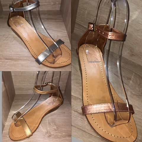Santorini Metallic Sandals - limited edition - buy 2 pairs & save