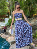 Jewel Elastic Maxi - Blue Flower