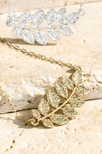 Boho Leaf Necklace