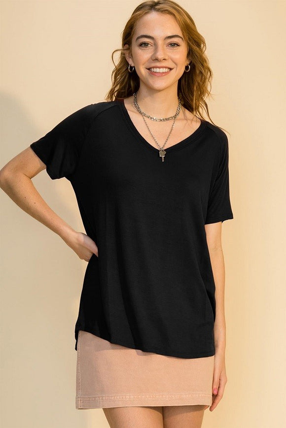 Perfect V Neck in Black