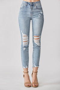 High Rise Perfectly Distressed Jeans