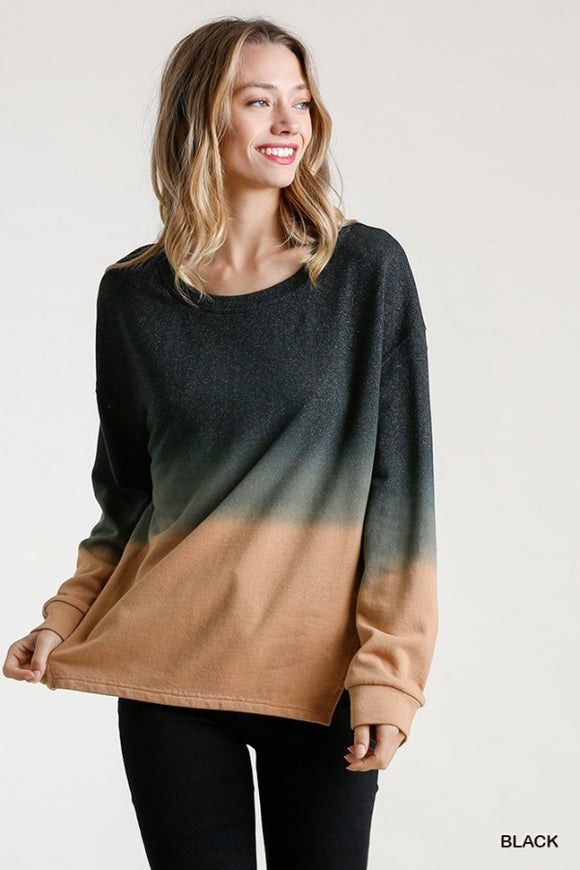 Dip Dye French Terry Top