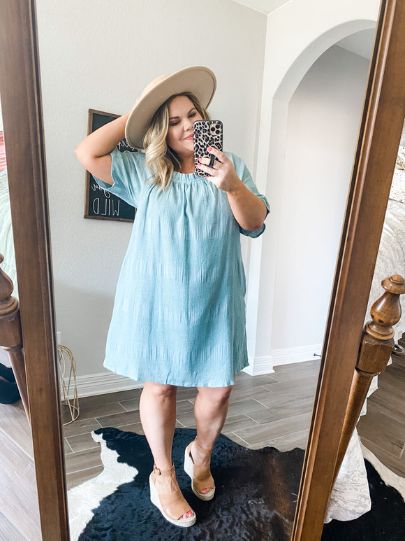 Boho Summer Blues Dress