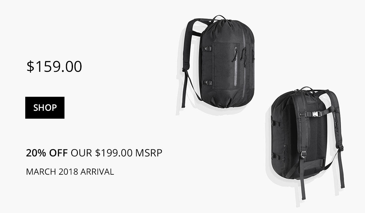 The Adjustable Backpack Presale