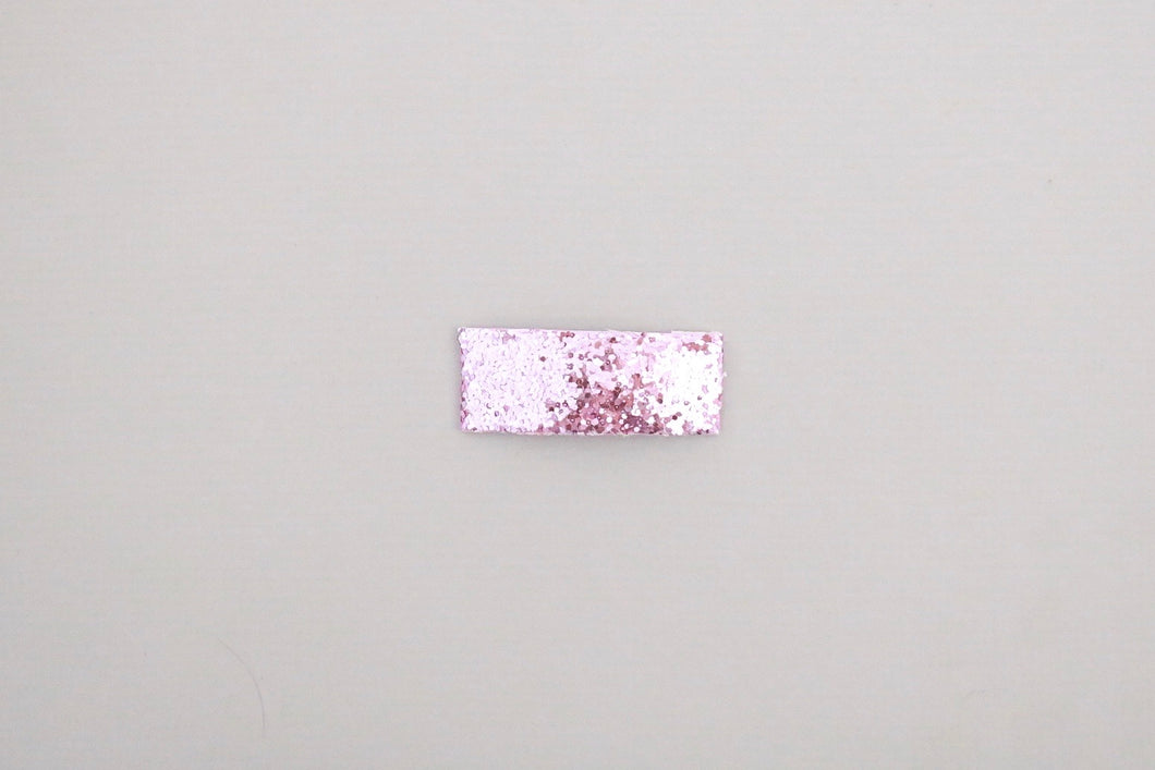 Purple Glitter Snap Clip