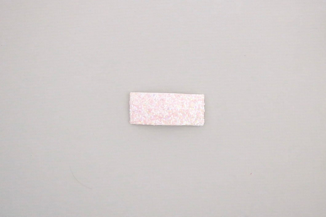 Pink Glitter Snap Clip