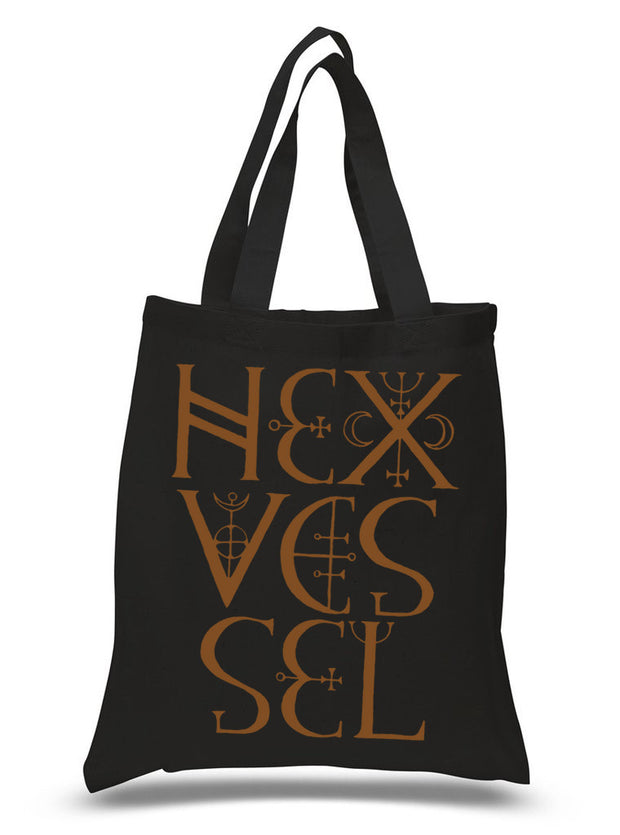 "Hexvessel ""Ornamental Logo"" Black Tote Bag"