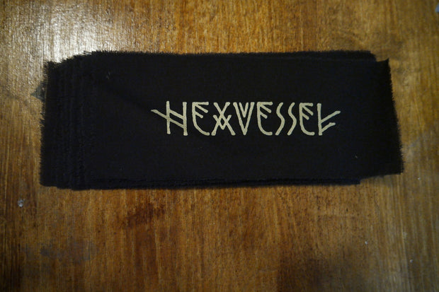 Hexvessel gold logo raw edge patch