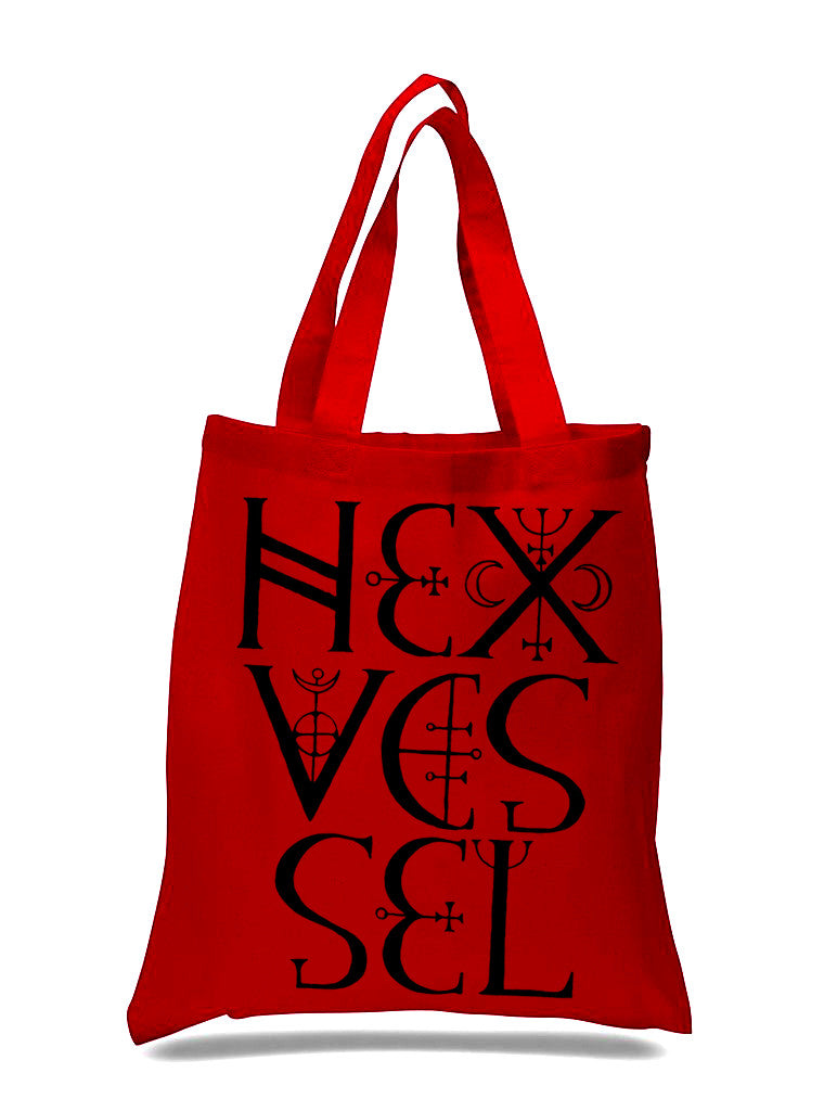 "Hexvessel ""Ornamental Logo"" Red Tote Bag"
