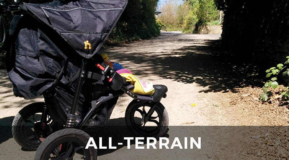 All-Terrain Pushchairs - perfect for around town and off the beaten track.