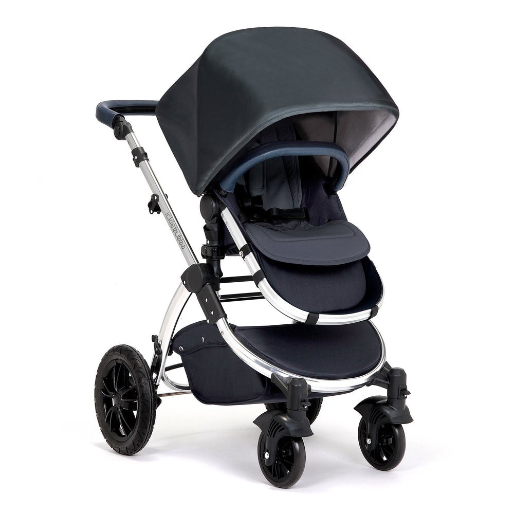 Ickle Bubba Stomp V4 Special Edition 2-in-1 - Blueberry/Chrome - Pushchair Expert