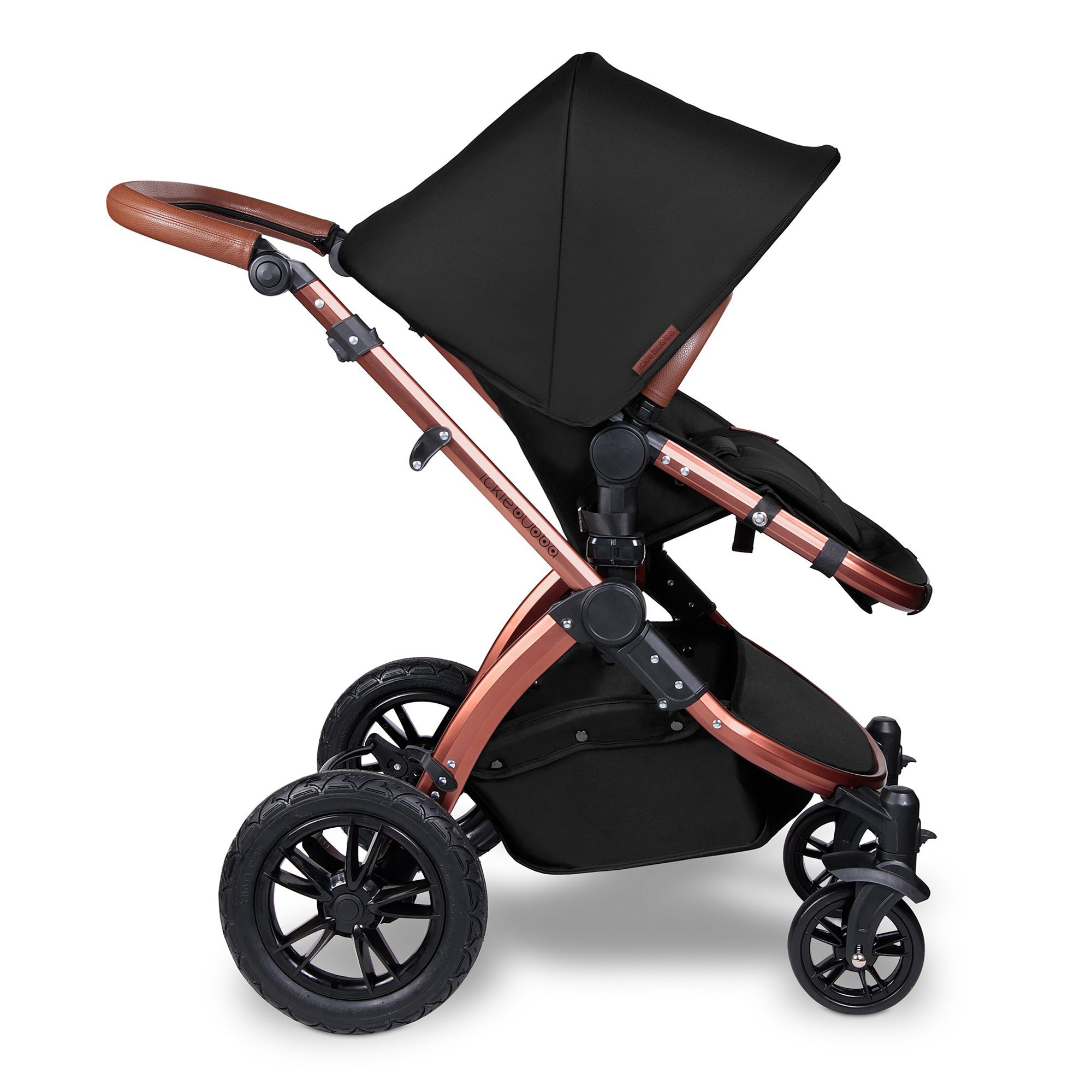 Ickle Bubba Stomp V4 Special Edition i-Size Travel System with ISOFIX Base - Midnight/Bronze - Pushchair Expert