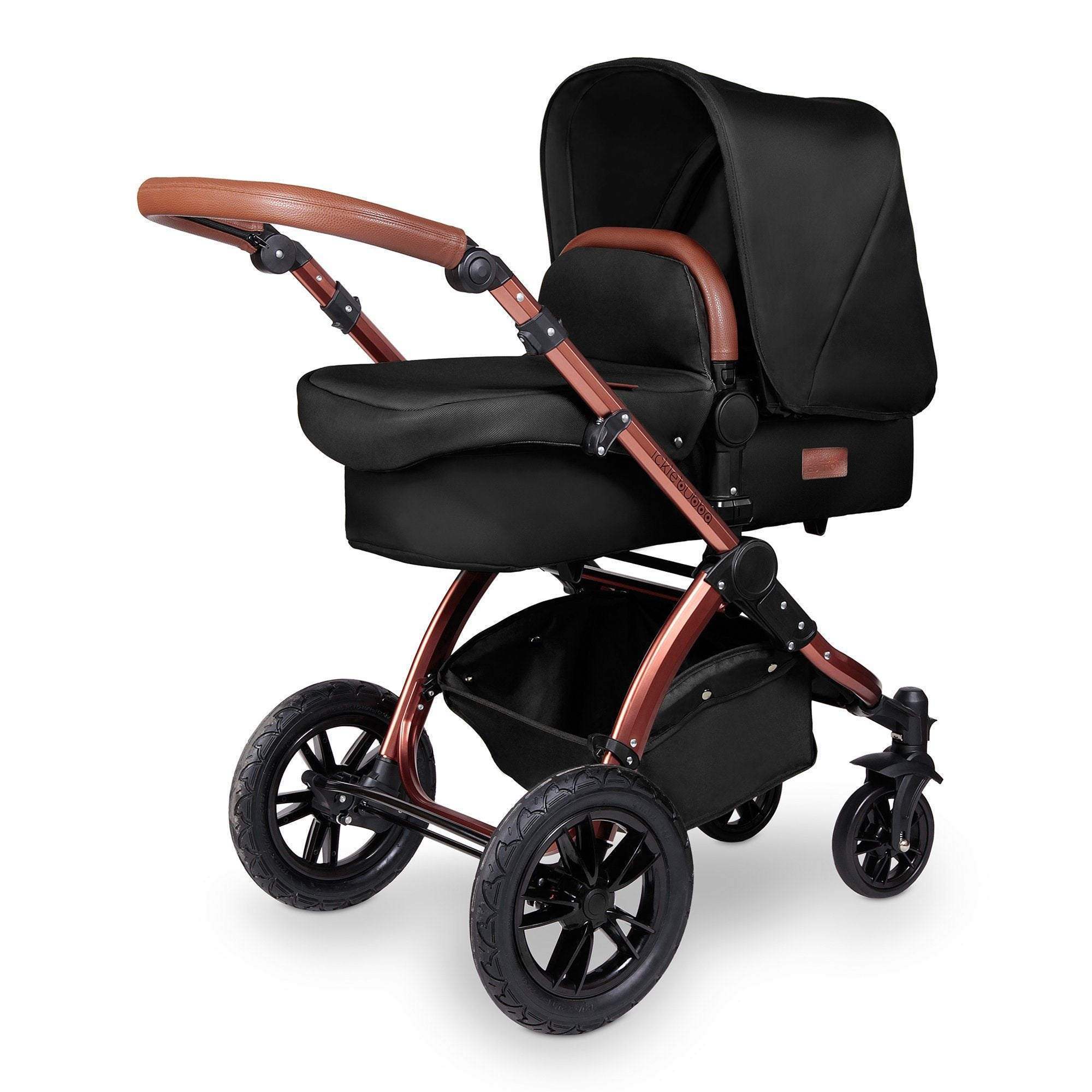 Ickle Bubba Stomp V4 Special Edition Travel System with ISOFIX Base - Midnight/Bronze - Pushchair Expert