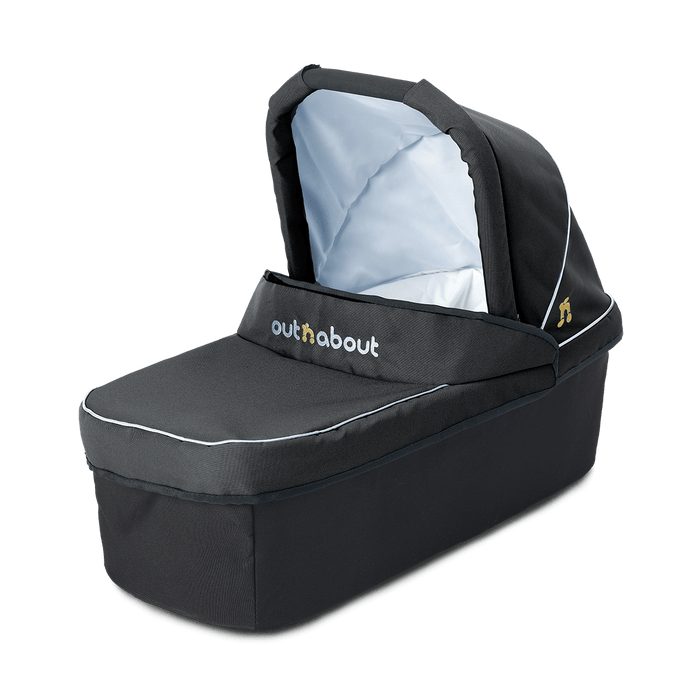 Out'n'About Carrycot Single Raven Black - Pushchair Expert