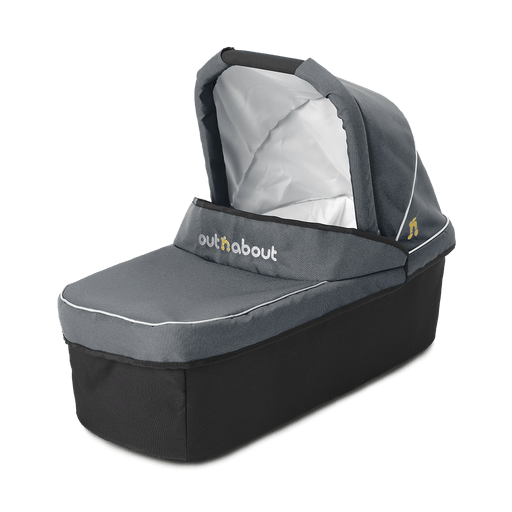 Out'n'About Carrycot Single Steel Grey - Pushchair Expert