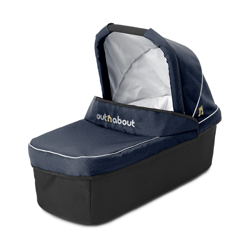 Out'n'About Carrycot Single Royal Navy - Pushchair Expert