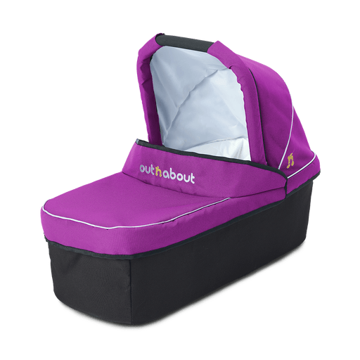 Out'n'About Carrycot Single Purple Punch - Pushchair Expert