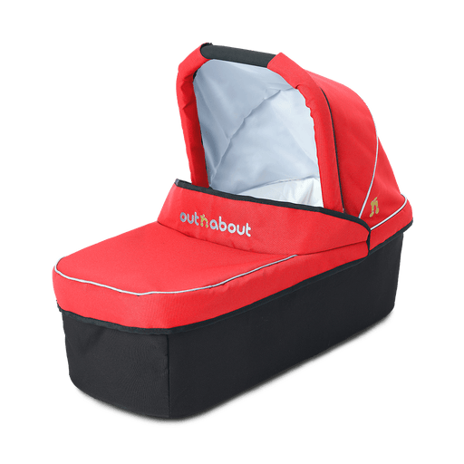 Out'n'About Carrycot Single Carnival Red - Pushchair Expert