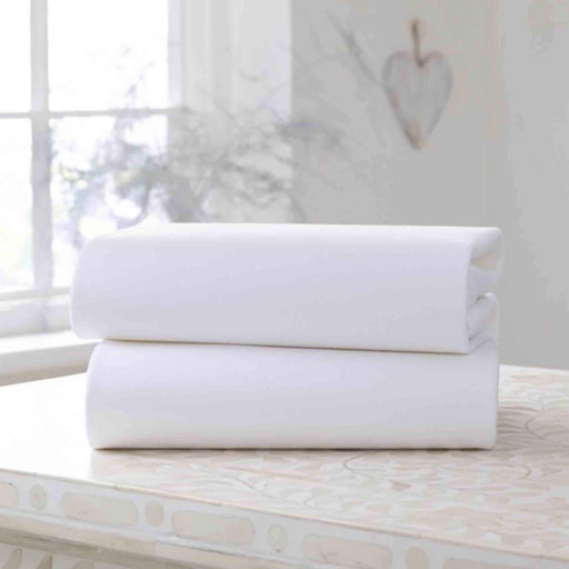 Clair de Lune 2 pack fitted sheets to fit cot (60x120cm) - Pushchair Expert