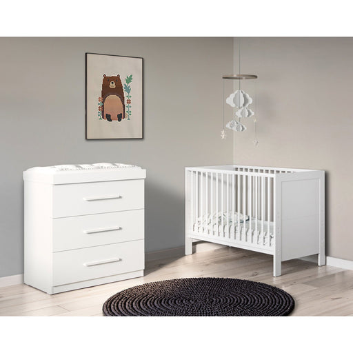 Ickle Bubba Grantham Mini 2-piece furniture set - Brushed White