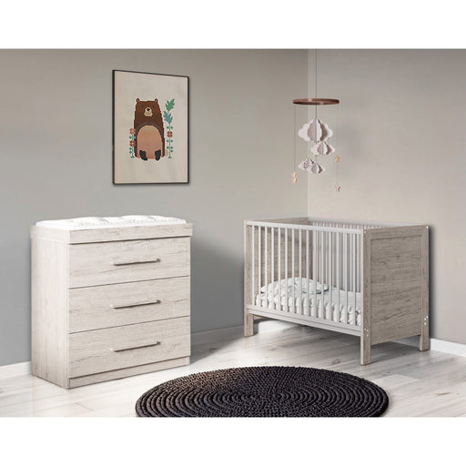 Ickle Bubba Grantham Mini 2-piece furniture set - Grey Oak
