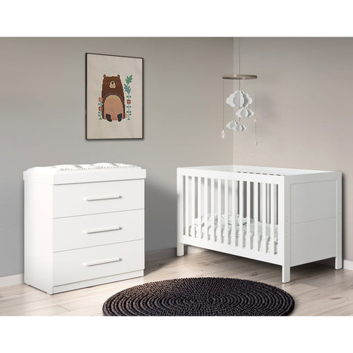 Ickle Bubba Grantham 2-piece furniture set - Brushed White