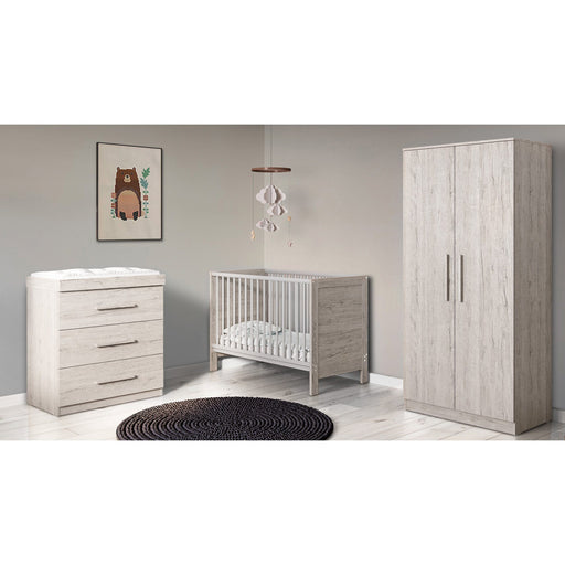 Ickle Bubba Grantham Mini 4-piece bundle including mattress - Grey Oak