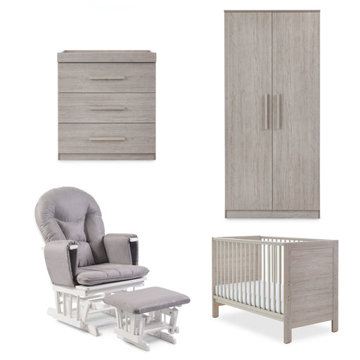 Ickle Bubba Grantham Mini 5-piece full room set including mattress - Grey Oak