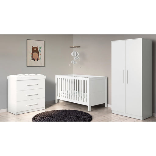 Ickle Bubba Grantham 4-piece bundle including mattress - Brushed White