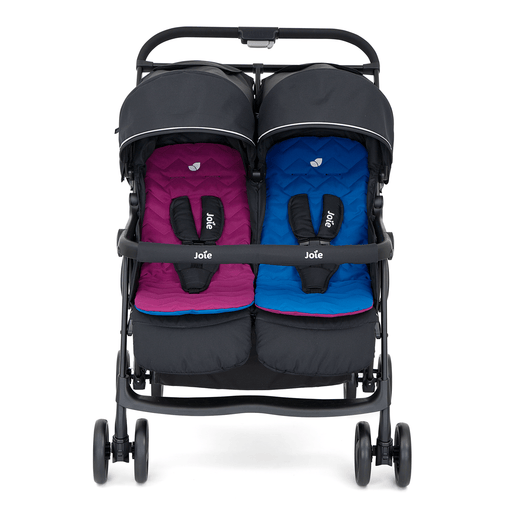 Joie Aire Twin stroller - Rosy & Sea - Pushchair Expert
