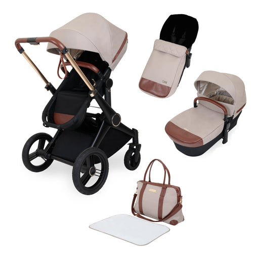 Ickle Bubba Aston Rose Luxury 8-Piece Pushchair Bundle - Stone