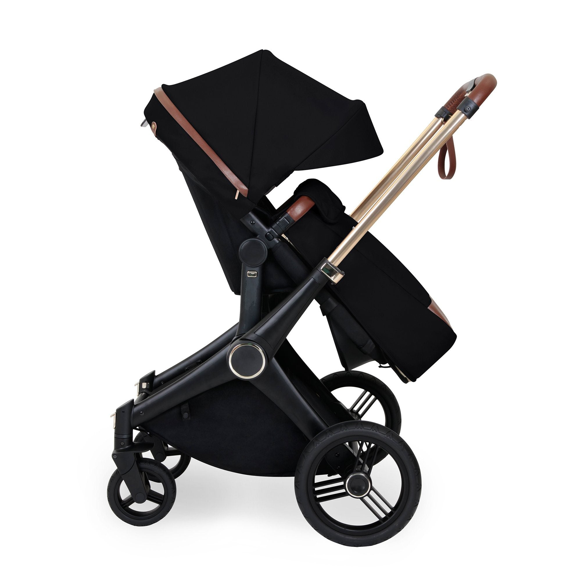 Ickle Bubba Aston Rose Luxury 10-Piece Travel System Bundle - Black