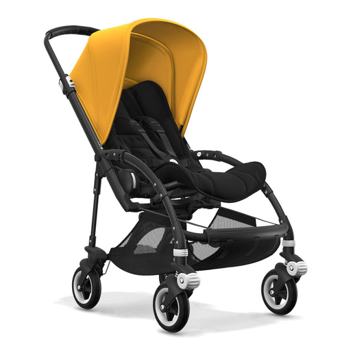Bugaboo Bee 5 (Black/Yellow on Black Chassis) - Pushchair Expert