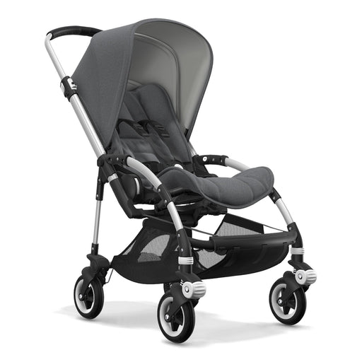 Bugaboo Bee 5 (Grey Melange on Aluminium Chassis) - Pushchair Expert