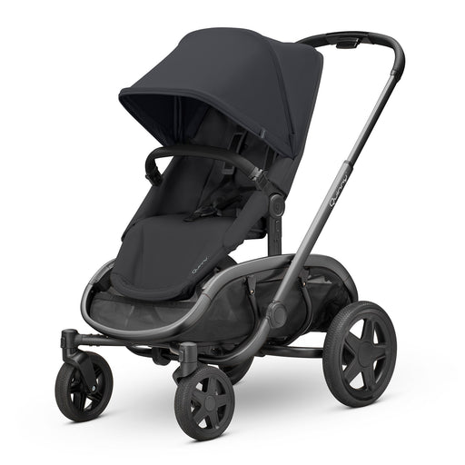 Quinny Hubb Black on Black with Graphite Frame - Pushchair Expert
