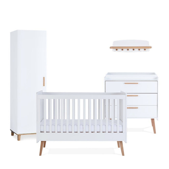 Silver Cross Brighton Furniture - 4-piece nursery set with mattress
