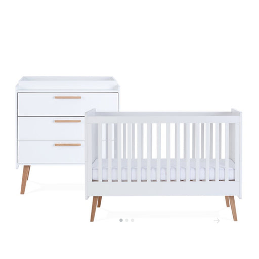 Silver Cross Brighton Furniture - Cot Bed and Dresser