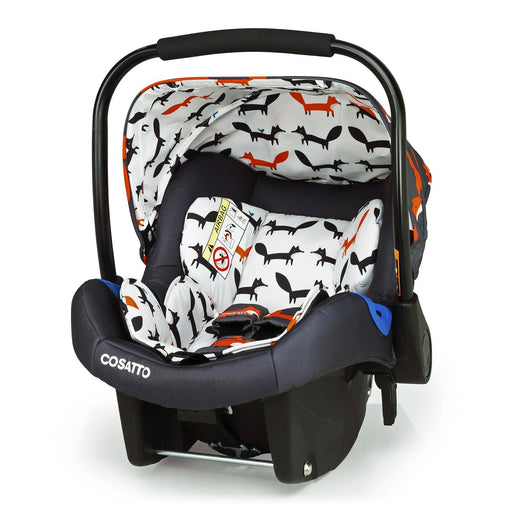 Cosatto Port Group 0+ infant car seat - Charcoal Mister Fox - Pushchair Expert